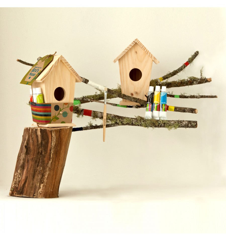 Seedling maison d 39 oiseaux peindre lu ju for Maison a peindre