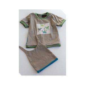 Les fées mères: T-Shirt et bonnet en coton bio12 mois