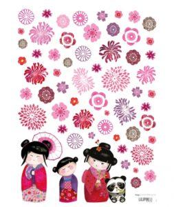 poupees-japonaises-fleurs