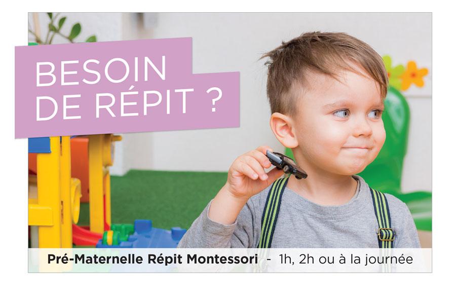 Montréal Pré-maternelle Répit Montessori
